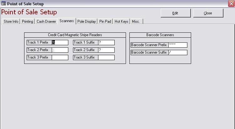 Pos Setup Scanners Tab