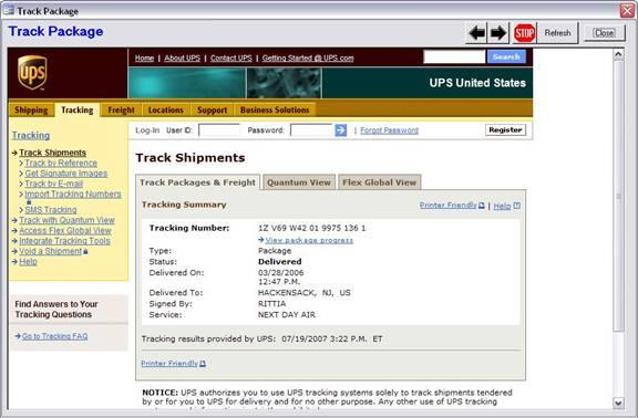 UPS OnLine Tools Setup